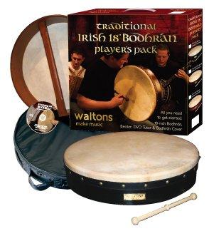 Waltons 45,7cm Classic schwarz Design Bodhran Pack Geschenk-Set