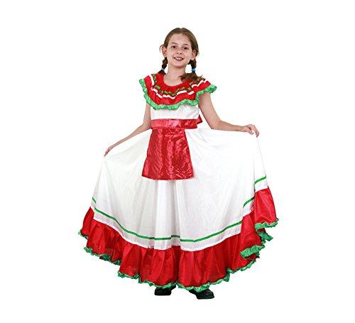 Imagen de disfraz de mejicana niña en varias tallas para carnaval
