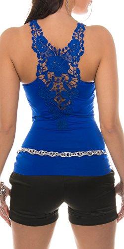 Koucla - Débardeur - Aucun motif - Col Ras Du Cou - Femme Bleu