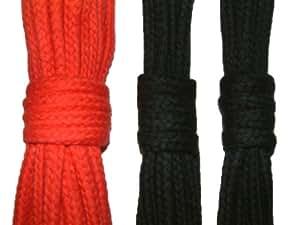 Baumwollseil SET 8mm - 7m Rot - 3m Schwarz - 3m Schwarz