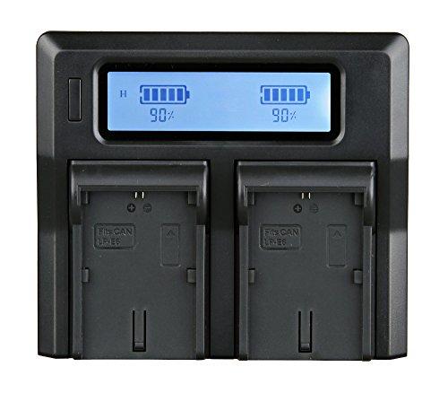 Galleria fotografica Ayex termometro digitale dual-caricatore per Sony NP-F550, NP-F570, NP-F750, NP-F770 batterie con Auto-ricarica
