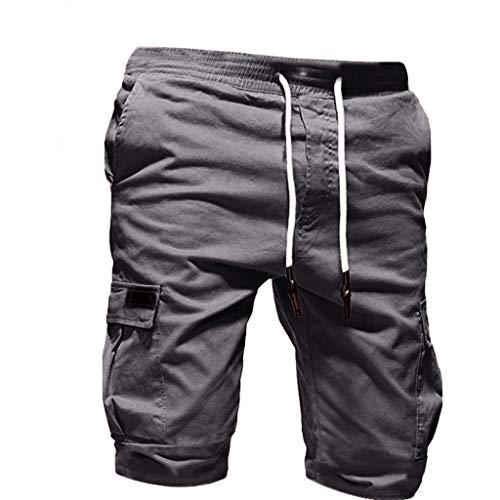 Pure Farbe Bandage Beiläufig Lose Tunnelzug Jogginghose Shorts Hose ()
