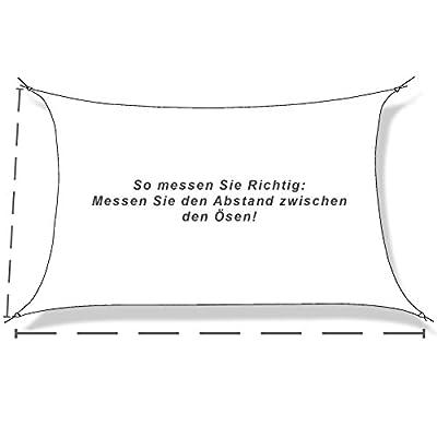 hanSe® Marken Sonnensegel Sonnenschutz Segel Rechteck 6x8 m