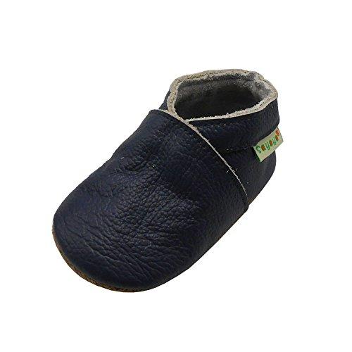 Sayoyo Weichersohlen Babyhausschuhe Lauflernschuhe das Kind Jungen & Mädchen Krabbelschuhe(Navy blau,18-24 Monate) Infant Navy Schuhe