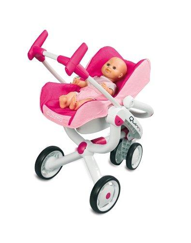 Smoby Maxi-Cosi und Quinny 3Rad Kinderwagen + Buggy + Autositz–550389–Puppen