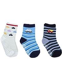 Dazzle Baby boy Cotton Socks Anti Skid Socks boy Booties Multi Color and Designs Random Colors