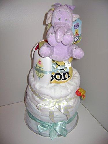 Baby Boy Disney Lumpy el elefante lujo 3-Tier-tarta de pañales Hamper