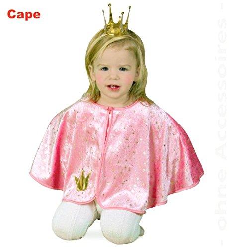 Cape Prinzessin Umhang rosa Mädchen Kleinkind Kostüm - Pannesamt - Gr - (Rosa Stern Kostüme Prinzessin)