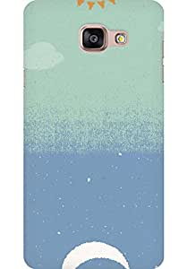 AMEZ designer printed 3d premium high quality back case cover for Samsung Galaxy A5 2016 (day night abstract)