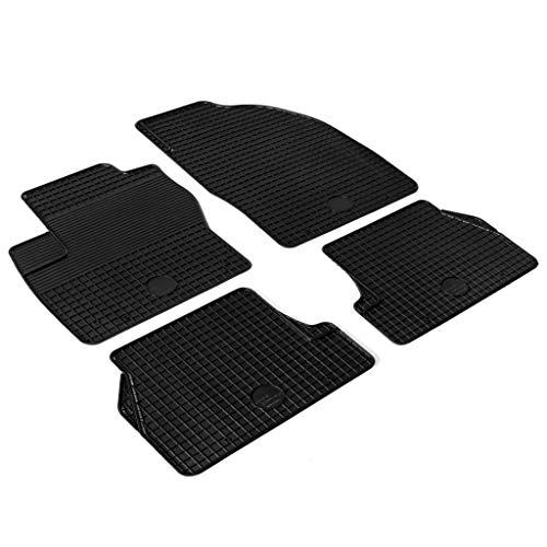 Festnight Auto-Fußmatten-Set 4-TLG. | Gummimatte | Gummi Automatten | Rutschfest Autofußmatten | für Ford Focus C-MAX Grand C-MAX
