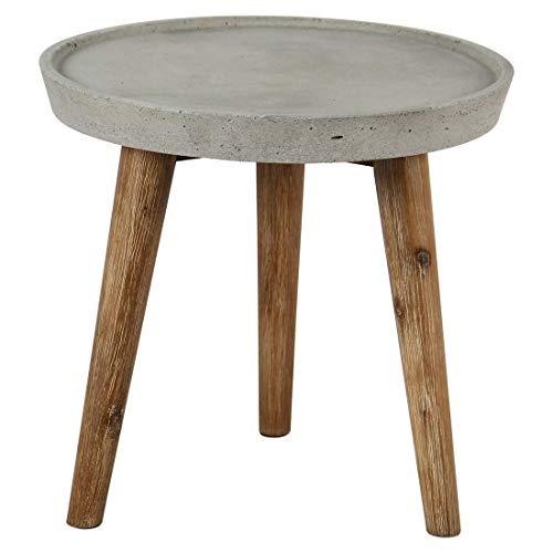 OUTLIV. Gartentisch Beistelltisch Ø40cm Akazie/Zement Outdoor Tisch