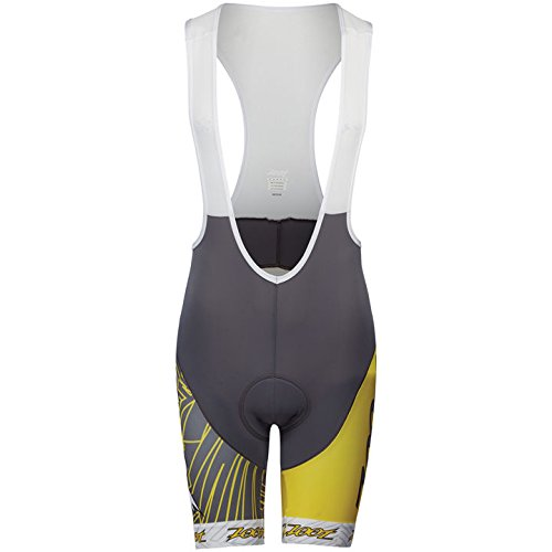 Radhose Ultra Cycle Team 10 Inch Bib Herren pewter/sub atomic yellow M (Cycle Sub Bib Short)