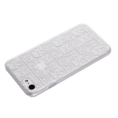 """MOONCASE iPhone 7 Coque, Premium Durable Ultra-Mince Transparente Housse Étui de Protection avec Motif Blanc [Anti-rayures] Case Cover pour iPhone 7 4.7"""" - Clear 02 Clear 04"""