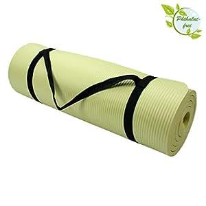 Yoga - Matte - HARMONY 180 cm x 60 cm x 1.5 cm Yogamatte, Farbe:beige