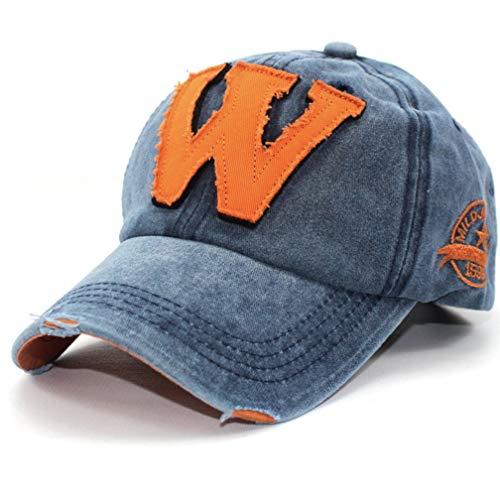 Baseball Caps für Herren/Damen/Kinder, Cap Herren Caps Damen Baseball Cap Unisex Kappe Basecap Bequeme Cap Hip-Hop Hüte Mützen (One Size, Blau) (Blaue Hip-hop-mütze)
