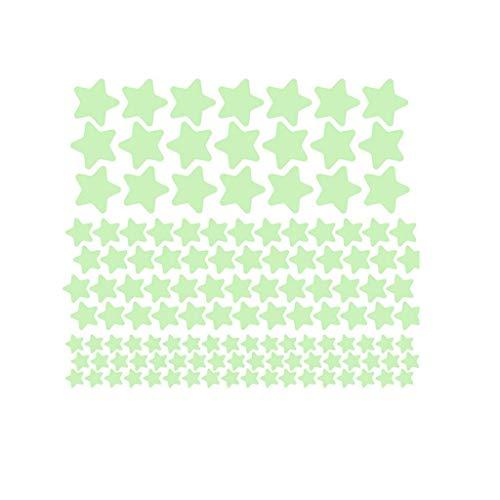 Huaya 3D Sterne Glühen Im Leuchtend Fluoreszierend Wand Aufkleber Zimmer Dekore -