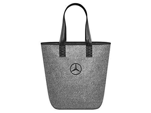 Mercedes-Benz, Einkaufstasche, grau / schwarz, 100{cd473acd2755dc9951e8b19f196ce7ad9ba4f47d75a261de0affd62dc826cd7c} Polyester