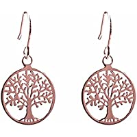 ANTOMUS® SOLID 925 STERLING SILVER PAIR OF TREE OF LIFE EARRINGS 6XzoXTeju5