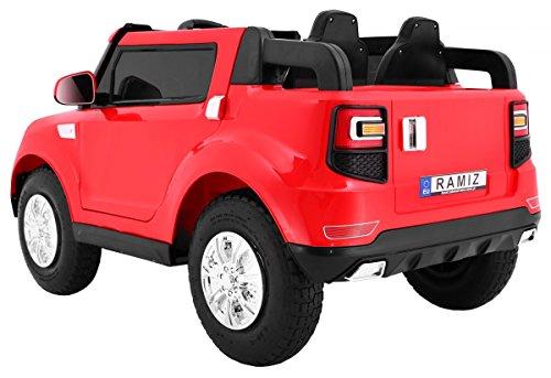 RC Auto kaufen Kinderauto Bild 2: BSD Elektro Kinderauto Elektrisch Ride On Kinderfahrzeug Elektroauto Fernbedienung - S8088 AIR Gepumpte Räder 2-Sitzer - Rot*