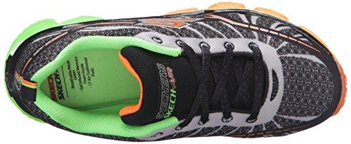 Skechers Jungen Boys Skech Air Turbo Shock Sneaker Schwarz - Noir (Bklm Noir/Lime)