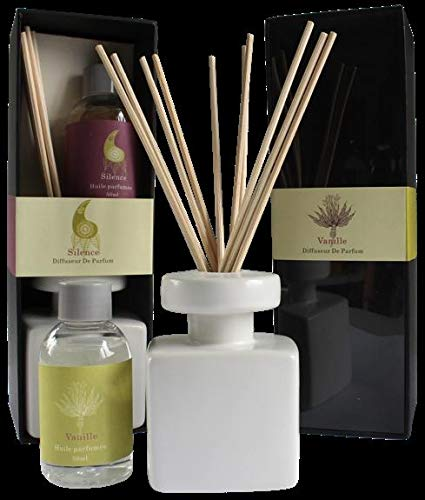 Bouquet Parfume Keramik weiß Set 2Düfte (Vanille und Silence)