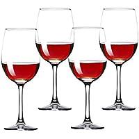 350 ML * 4 Bordeaux Trasparente Cristallo Vino Rosso Bicchieri Champagne Set Confezione regalo Confezione Home Hotel Grande Calice Ideale per Compleanni, Anniversari o Regali di Nozze (Lavabile in Lav