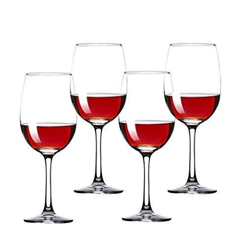 350 ML * 4 Bordeaux Transparent Cristal Rouge Verres à Vin Champagne Ensemble Coffret Cadeau Emballage Maison Hôtel Grand Gobelet Idéal pour Anniversaire, Cadeaux de Mariage Ou de Mariage (Va Au Lave-