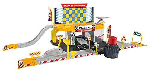 Majorette- 212050011- Garage Creatix Racing PitStop Station, Circuit voiture, + 1 Véhicule 0763773168055