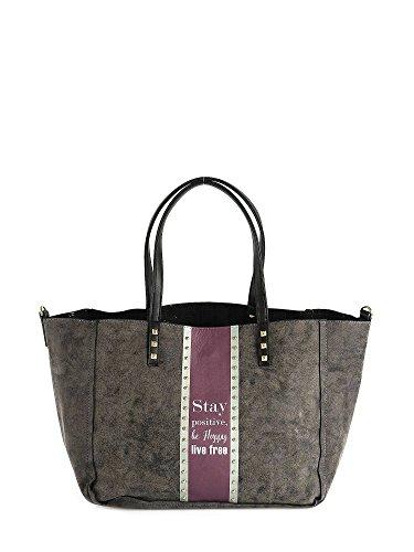"Shopping bag Le Pandorine Reversible ""Happy"" AI16DAY01954-01 nero"