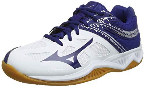 Mizuno Thunder Blade 2, Zapatillas de Voleibol Adultos Unisex, Blanco (White/Blueprint/Silver 14), 45 EU