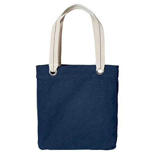100% Garment Washed Cotton Canvas Tote Bag (Navy) by Bagiva (Canvas Garment)