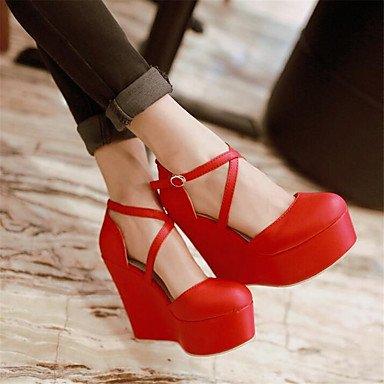 RTRY Donna Sneakers Comfort Pu Molla Canvas Informale Comfort Piatto Bianco US6.5-7 / EU37 / UK4.5-5 / CN37