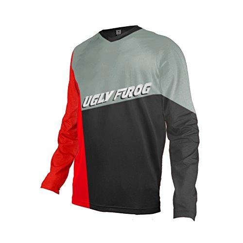 Uglyfrog 2018-2019 Neueste MTB V-Halsband Lange Ärmel Jersey Frühlingsart Motocross Mountain Bike Downhill Shirt Herren Sportbekleidung Kleidung