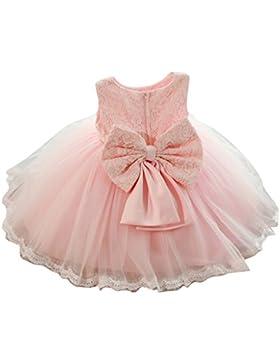 Kinder-Baby-Mädchen-Partei-Kleid-Blumenspitze-Hochzeits-Brautjunfer-Bowknot-Prinzessin Kleider
