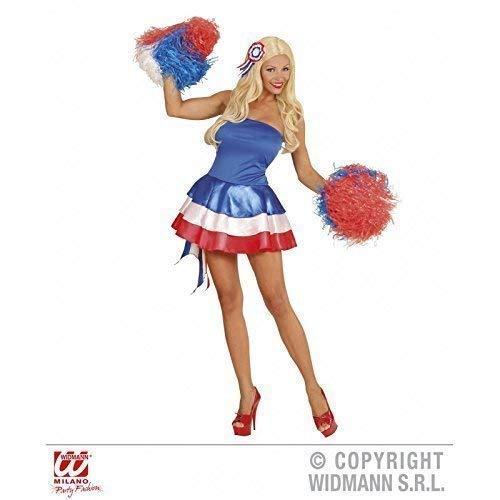 Frankreich Miss Kostüm - Lively Moments Stylisches Kostüm Miss Frankreich / Kleid / Fanartikel / Fußballkostüm / Faschingskleid Gr. L = 42