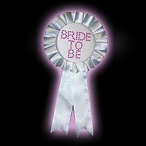 White Bride To Be Diamante Rosette (accesorio de disfraz)