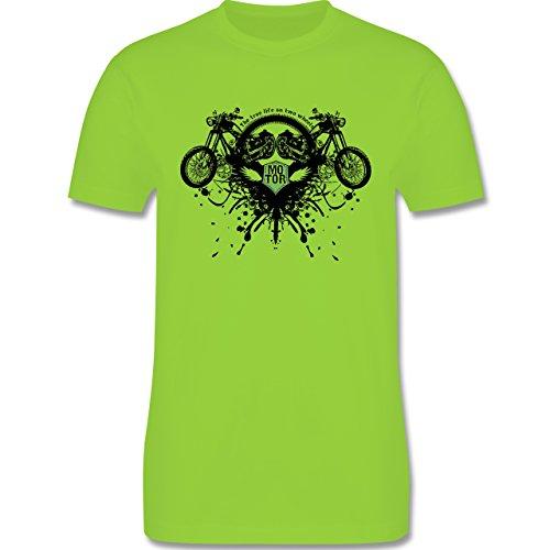 Motorräder - Biker - true life - Herren Premium T-Shirt Hellgrün