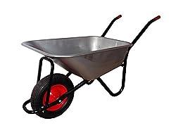 Schubkarre Verzinkt, belastbar bis 200 kg, Luftbereifung mit Stahlfelge, Gartenkarre Transportkarre