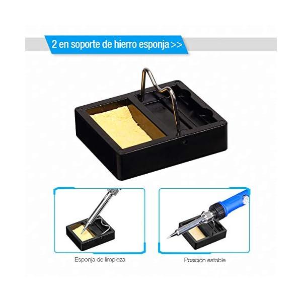 Powerextra Kit Soldador Soldador Electrónica de Estañoo con Caja de Herramienta