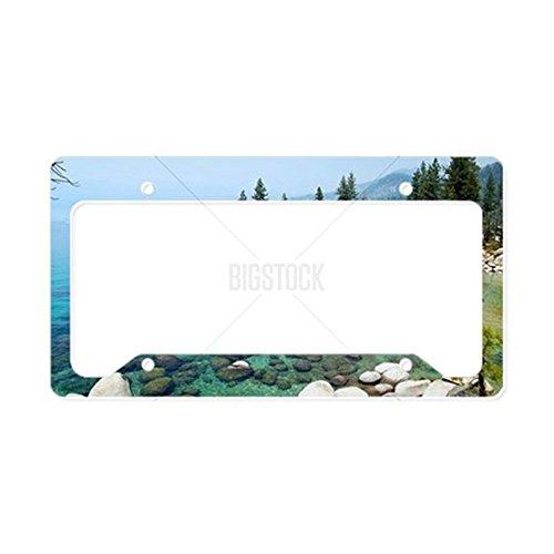 CafePress Kennzeichenhalter für Lake Tahoe, Standardgröße, Mehrfarbig (Lake Frame License Tahoe Plate)