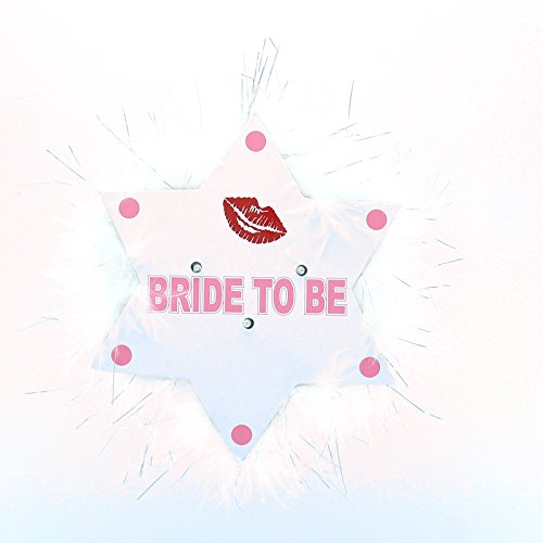 Hen Night Party Badges | Flashing 'Bride To Be' Brooch