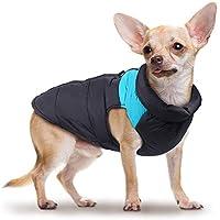 Hund Warme Kleidung Wasserdichte Haustier Baumwolle Weste Padded Winter Daunenjacke Mäntel Pet Skianzug Im Freien für Kleinen Hund - BlauXS