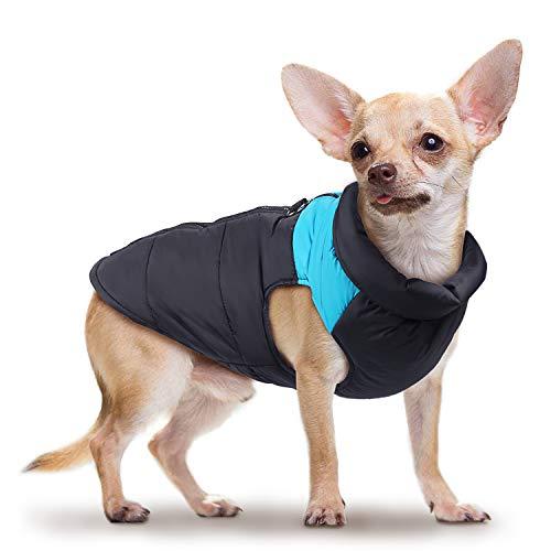 Wooce Ropa de Perro a Prueba de Agua y cálido Chaleco de algodón para Mascotas Chaqueta de Invierno Traje de esquí al Aire Libre Adecuado para Perros pequeños
