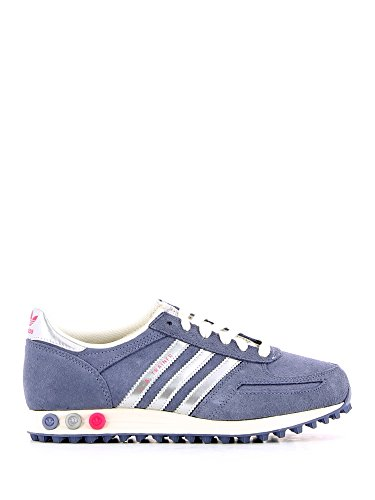 Adidas L.A Trainer W women's running shoes Grey Blue Silver Pink (Grey Blue Silver Pink, 42)
