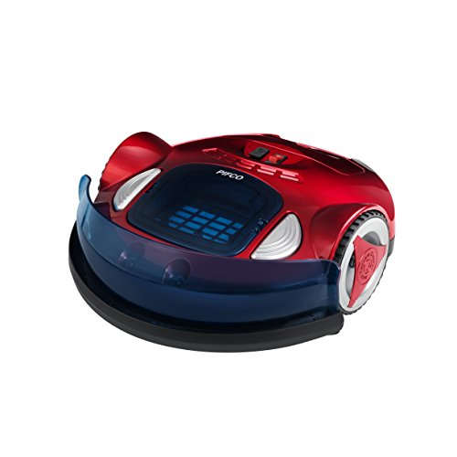 Pifco Robotic Vacuum Cleaner, Anti-Falling System, 1500 mAh, 25 W, Red