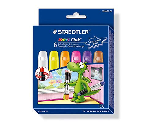 """Buntstifte\""""noris Club\"""", 6 Pastell-Farben, Gel Von Staedtler, 2390G2 C6"""