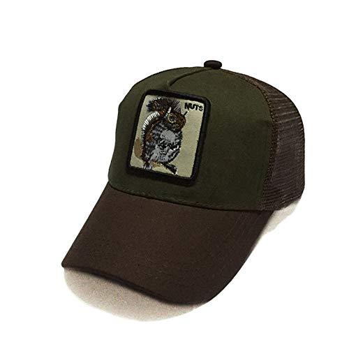 zhuzhuwen Hut Neue Tier Stickerei Mesh Cap Baseball Cap im Freien Sonnencreme Hip-Hop Hip-Hop-Kappe 17 56-62cm