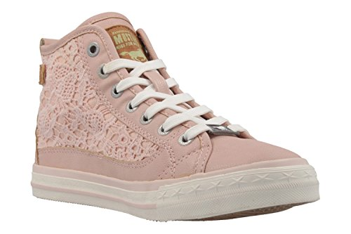 Mustang 1146-507-21, Sneakers Hautes Femme Rose