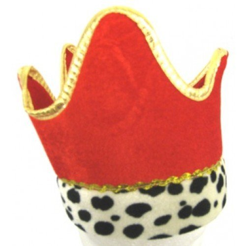 ROTE KRONE HAT, HERMELIN VERKLEIDUNG -WEIHNACHTEN SPIELEN / GEBURT / WEISER MANN / König Herodes (Weiser Mann Kostüme Geburt)