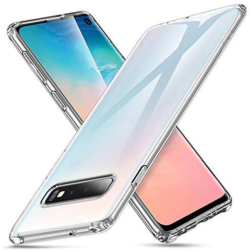 ESR Hülle kompatibel mit Samsung Galaxy S10 Hülle - Weiche Flexible Silikon Handyhülle - Essential Zero TPU Transparente Schutzhülle mit Kameraschutz und Mikrodot Muster- Klar